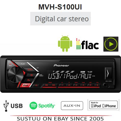 Pioneer MVH S100Ui RDS Ttuner/USB/Aux-in/iPod/iPhone Direct Digital Car Stereo Thumbnail 1