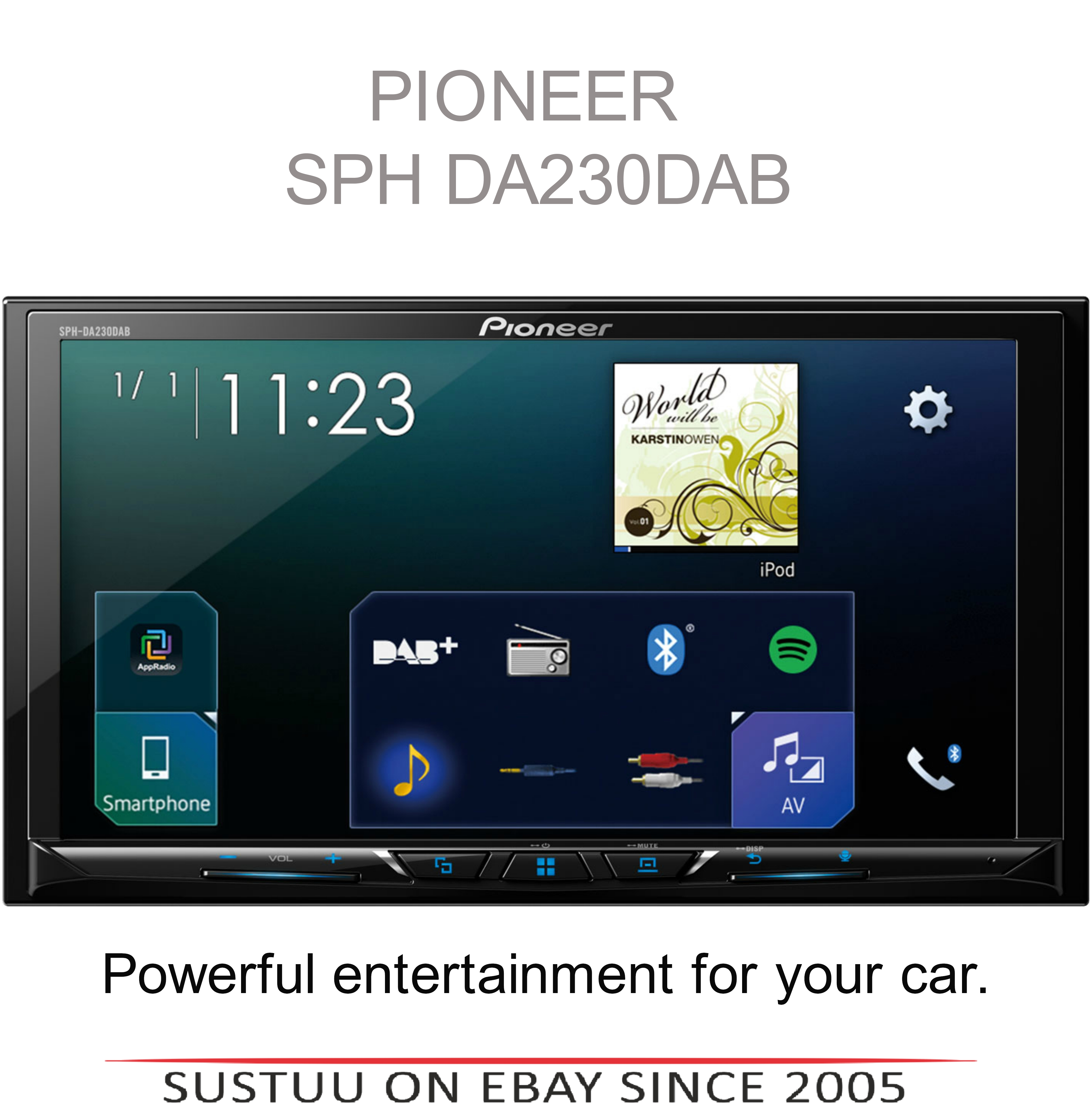 Pioneer Car Stereo?Bluetooth Media Player?DAB+ Radio?USB?iPod-iPhone-Android?MP3
