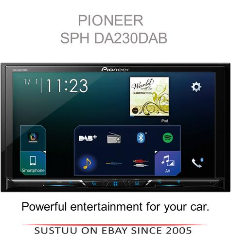Pioneer Car Stereo?Bluetooth Media Player?DAB+ Radio?USB?iPod-iPhone-Android?MP3 Thumbnail 1