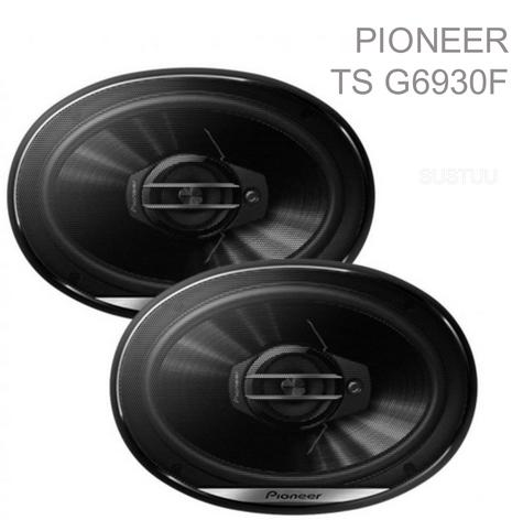"Pioneer TS G6930F 6x9"" Carbon Graphite Coaxial 3 Way Car Audio Speakers 400W NEW Thumbnail 1"