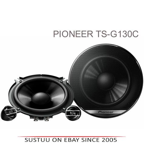 Pioneer TS G130C|In Car 2-way Speakers|G Series|Door-Shelf|13cm|40-220watts Thumbnail 1