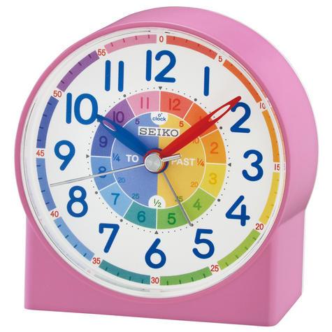 Seiko QHE153P Childrens Time Teaching Alarm Clock|Kids Bedroom Clock - Pink Thumbnail 2