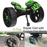 C-Tug SandTrakz Kayak Cart with Puncture-Free Wheels - Green|Carries upto 120kg