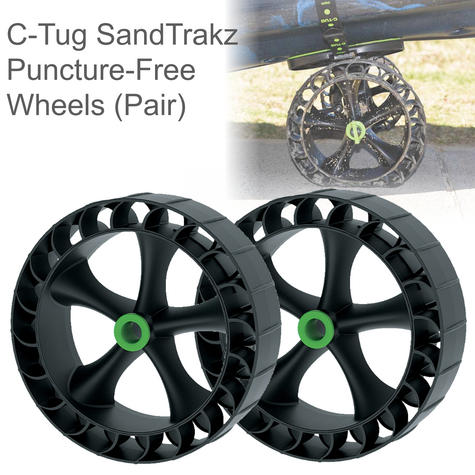 C-Tug SandTrakz Puncture-Free Wheels- Pair|Use Long Tracks|For C-TUGs|50-0005-71 Thumbnail 1