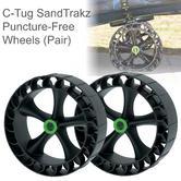 C-Tug SandTrakz Puncture-Free Wheels- Pair|Use Long Tracks|For C-TUGs|50-0005-71
