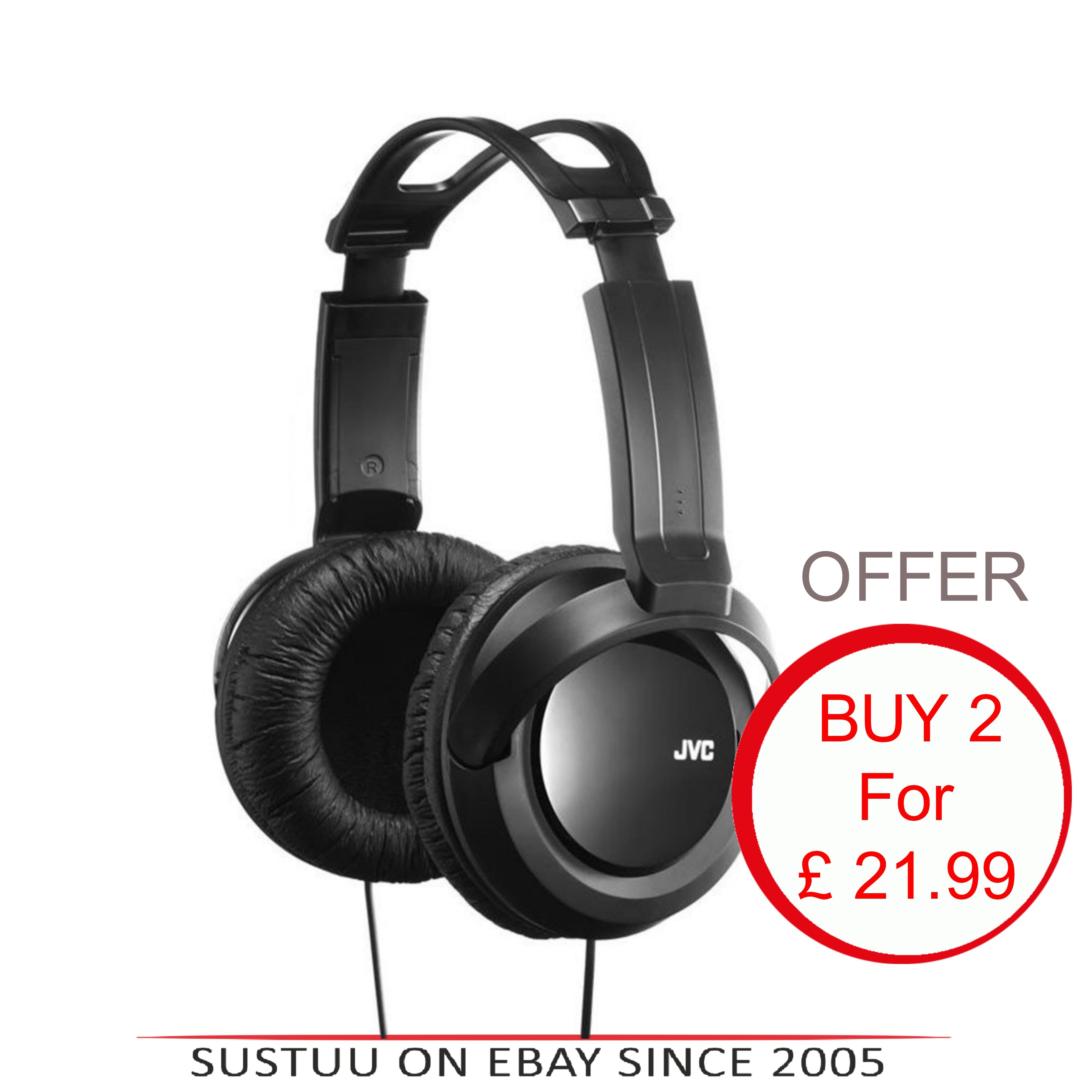 JVC HARX330|DJ Headphone|Over-Ear|Full-Size Deep Bass Stereo|2.5mCord x 2 Units