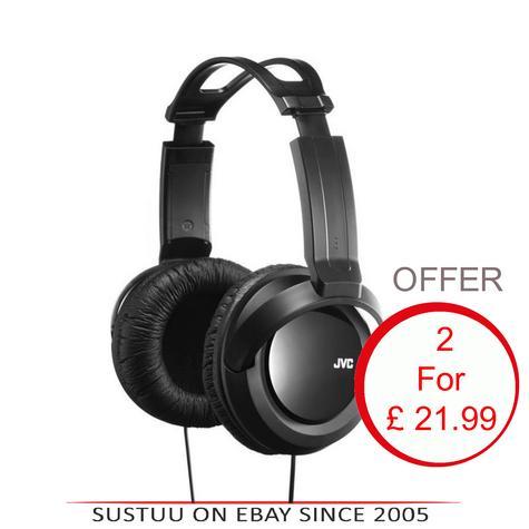 JVC HARX330|DJ Headphone|Over-Ear|Full-Size Deep Bass Stereo|2.5mCord x 2 Units Thumbnail 1