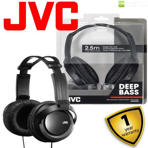 JVC HARX330|Over-Ear DJ Stereo Headphone|Deep Bass Sound|2.5mCord|Black x 2 Unit Thumbnail 2