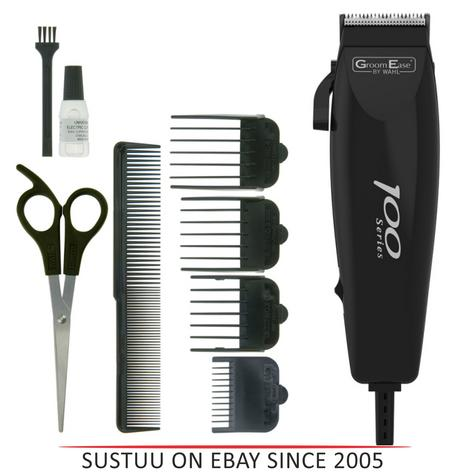 Wahl 79233-917 GroomEase 100 Series Hair Clipper|9 Piece Kit|Steel Blades|Black| Thumbnail 1