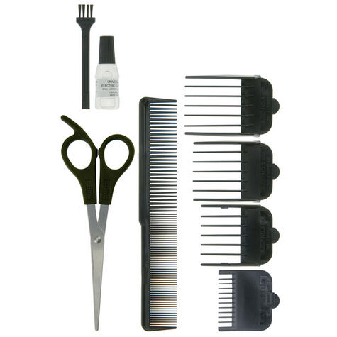 Wahl 79233-917 GroomEase 100 Series Hair Clipper|9 Piece Kit|Steel Blades|Black| Thumbnail 3