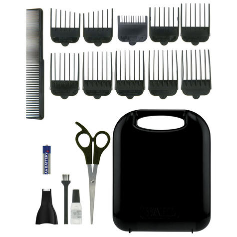 Wahl 79449-317 GroomEase Hair Clipper & Trimmer Gift Set|18 Piece Kit|Black| Thumbnail 3