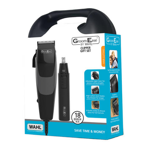 Wahl 79449-317 GroomEase Hair Clipper & Trimmer Gift Set 18 Piece Kit Black  Thumbnail 4