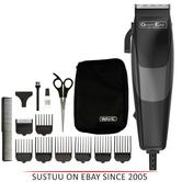 Wahl 79449-417 GroomEase Sure Cut Hair Clipper|8 Guide Combs|14 Piece Kit|Black|