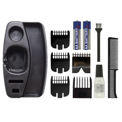 Wahl Groom 5537/6217 Battery Performer Stubble & Beard Trimmer|Steel Blade|Black Thumbnail 3