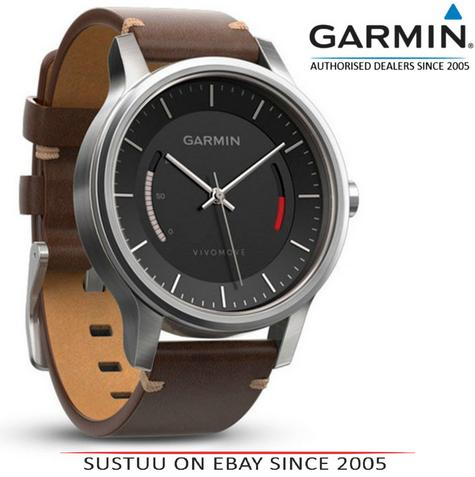 Garmin Vivomove|Analog Watch|Activity Tracker|Sleep Monitor|Brown Leather+Steel Thumbnail 1