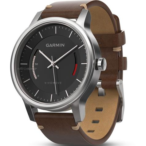Garmin Vivomove|Analog Watch|Activity Tracker|Sleep Monitor|Brown Leather+Steel Thumbnail 3