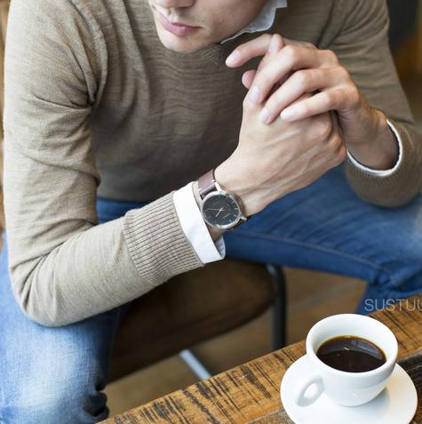 Garmin Vivomove|Analog Watch|Activity Tracker|Sleep Monitor|Brown Leather+Steel Thumbnail 4