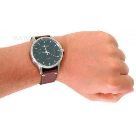 Garmin Vivomove|Analog Watch|Activity Tracker|Sleep Monitor|Brown Leather+Steel Thumbnail 5