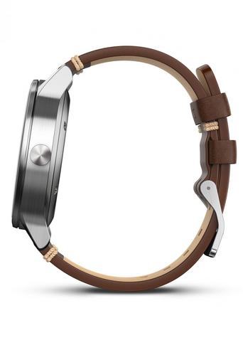 Garmin Vivomove|Analog Watch|Activity Tracker|Sleep Monitor|Brown Leather+Steel Thumbnail 8