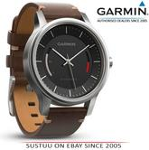 Garmin Vivomove|Analog Watch|Activity Tracker|Sleep Monitor|Brown Leather+Steel