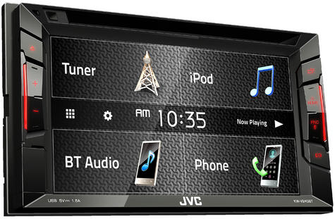 "JVC KW V240BT 6.2"" Clear Touch Monitor/Bluetooth/Usb/Aux/2 Din Multimedia Player Thumbnail 2"