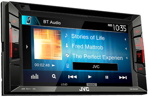 "JVC KW V240BT 6.2"" Clear Touch Monitor/Bluetooth/Usb/Aux/2 Din Multimedia Player Thumbnail 3"