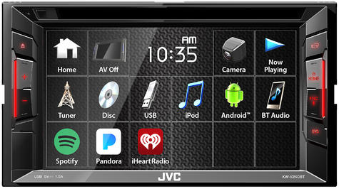 "JVC KW V240BT 6.2"" Clear Touch Monitor/Bluetooth/Usb/Aux/2 Din Multimedia Player Thumbnail 5"