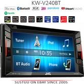 "JVC KW V240BT 6.2"" Clear Touch Monitor/Bluetooth/Usb/Aux/2 Din Multimedia Player"