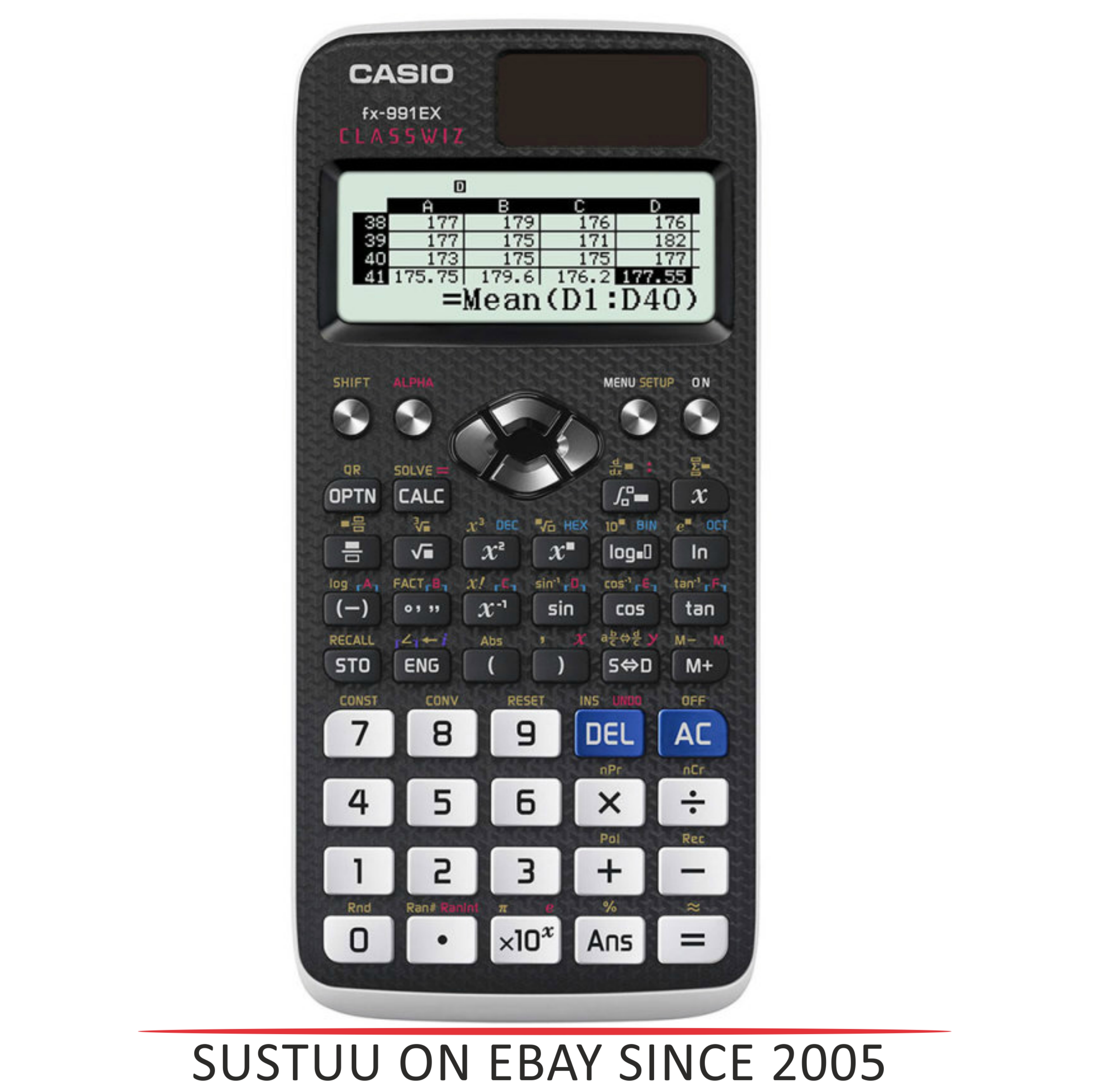 Casio FX991EX ClassWiz Advanced Scientific Calculator|552 Function Spreadsheet|