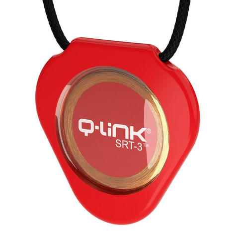 Q-Link SRT-3 Triangle Acrylic Pendant | Personal Energy System | Waterproof | Dynamic Red Thumbnail 2
