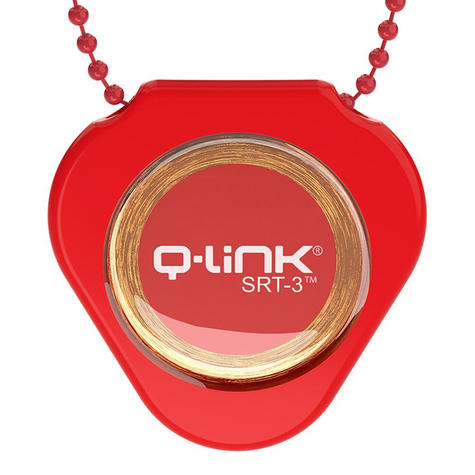 Q-Link SRT-3 Triangle Acrylic Pendant | Personal Energy System | Waterproof | Dynamic Red Thumbnail 4