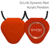 Q-Link SRT-3 Triangle Acrylic Pendant | Personal Energy System | Waterproof | Dynamic Red