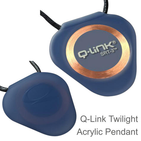 Q-Link SRT-3 Triangle Acrylic Pendant | Personal Energy System | Waterproof | Twilight Thumbnail 1