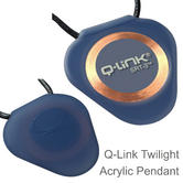 Q-Link SRT-3 Triangle Acrylic Pendant | Personal Energy System | Waterproof | Twilight