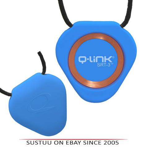 Q-Link Acrylic SRT-3 Triangle Pendant-Aura Blue|For Human Fitness-Peace & Mind Thumbnail 1