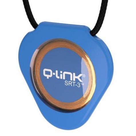 Q-Link SRT-3 Triangle Acrylic Pendant | Personal Energy System | Waterproof | Aura Blue Thumbnail 4