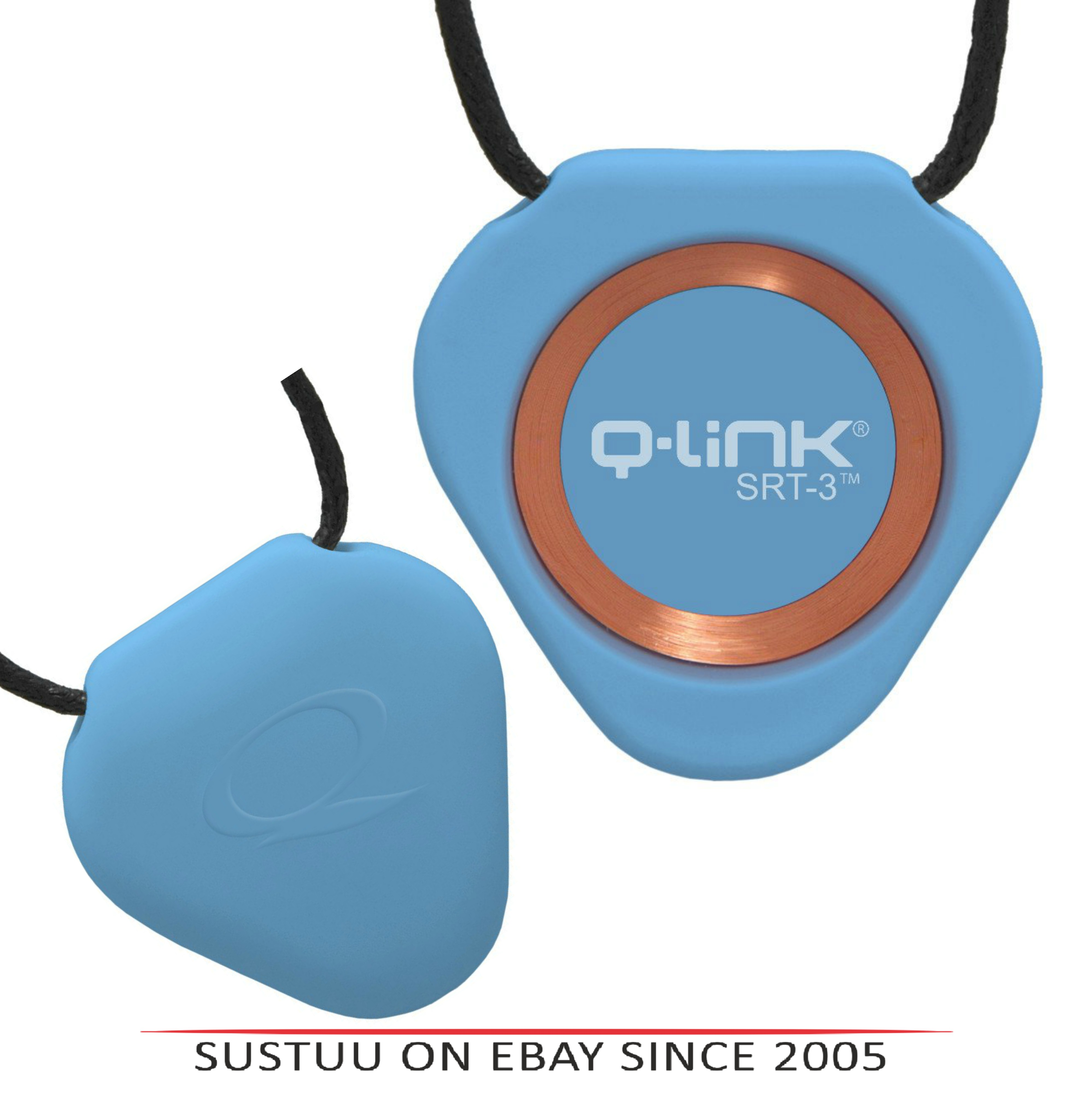 Q-Link Acrylic SRT-3 Triangle Pendant-Trans Blue|For Human Fitness-Peace & Mind