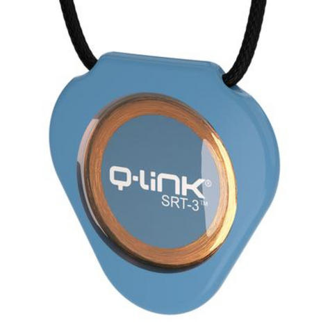 Q-Link SRT-3 Triangle Acrylic Pendant | Personal Energy System | Waterproof | Trans Blue Thumbnail 2