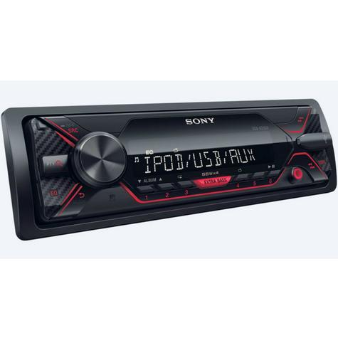 Sony Media Stereo Receiver|Mechless Radio|USB|Aux|iPod-iPhone-Android|Red Illumination Thumbnail 2