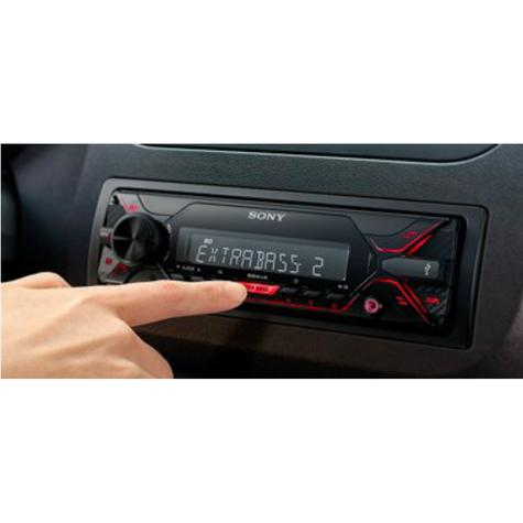 Sony Media Stereo Receiver|Mechless Radio|USB|Aux|iPod-iPhone-Android|Red Illumination Thumbnail 3