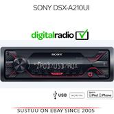 Sony Media Stereo Receiver|Mechless Radio|USB|Aux|iPod-iPhone-Android|Red Illumination