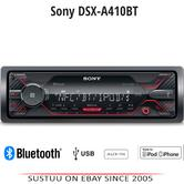 Sony DSX A410BT 4 x 55W Bluetooth/USB/iPhone/iPod Mechless Media Stereo Receiver