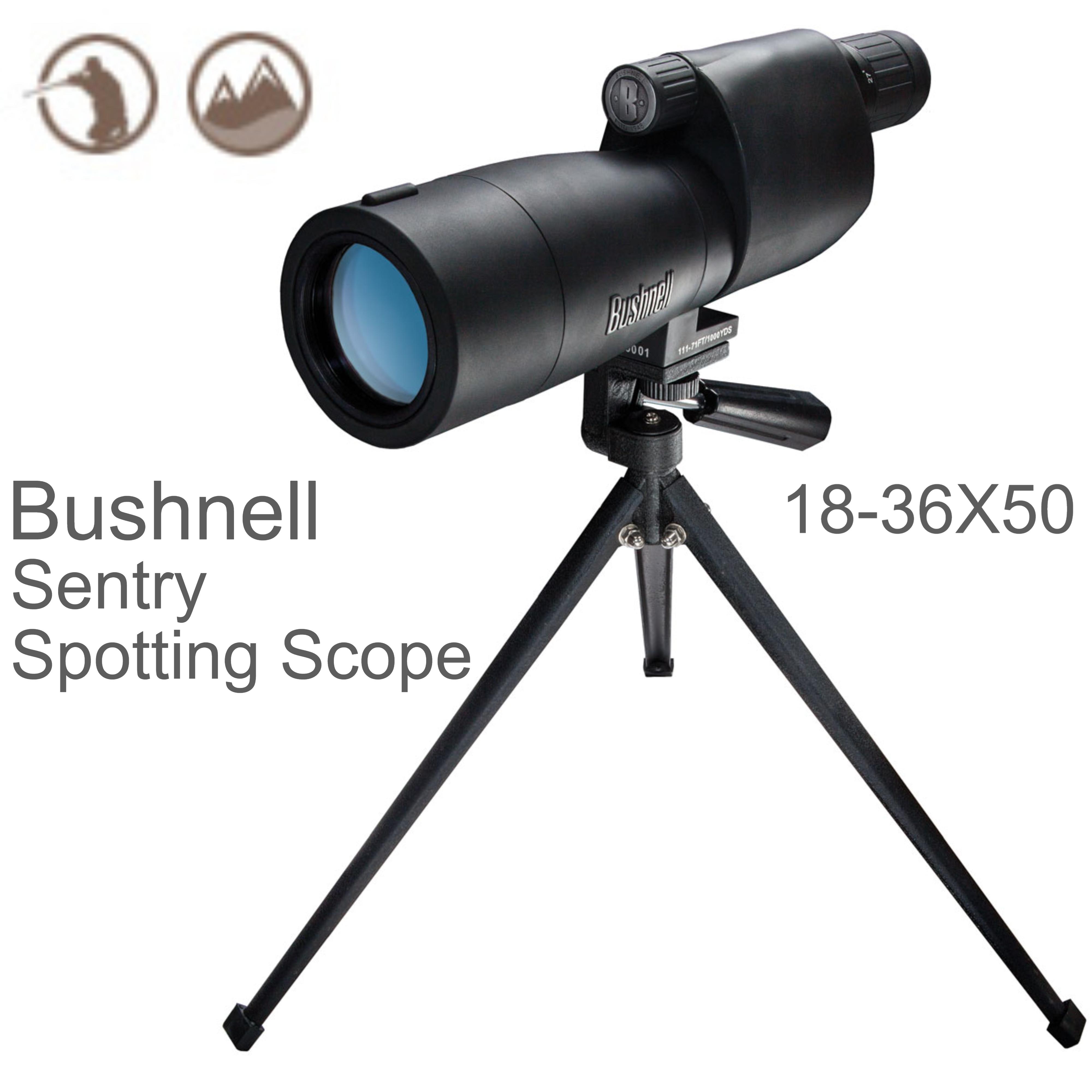 Bushnell Sentry Spotting Scope|Multi Coated|18-36x 50mm Objective Lens|-Black