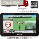 "Snooper Truckmate S6810 EU|7"" HGV Commercial GPS SatNav|Air1|Lifetime Europe Map"
