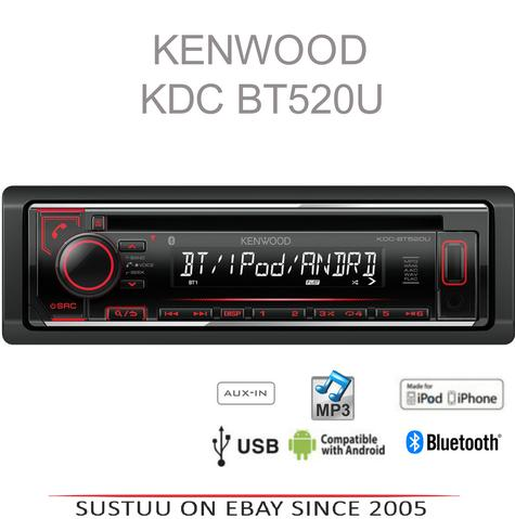 Kenwood KDC 520U Car Radio/CD/MP3/Aux/Aac/Bluetooth/iPhone/Android Stereo Player Thumbnail 1
