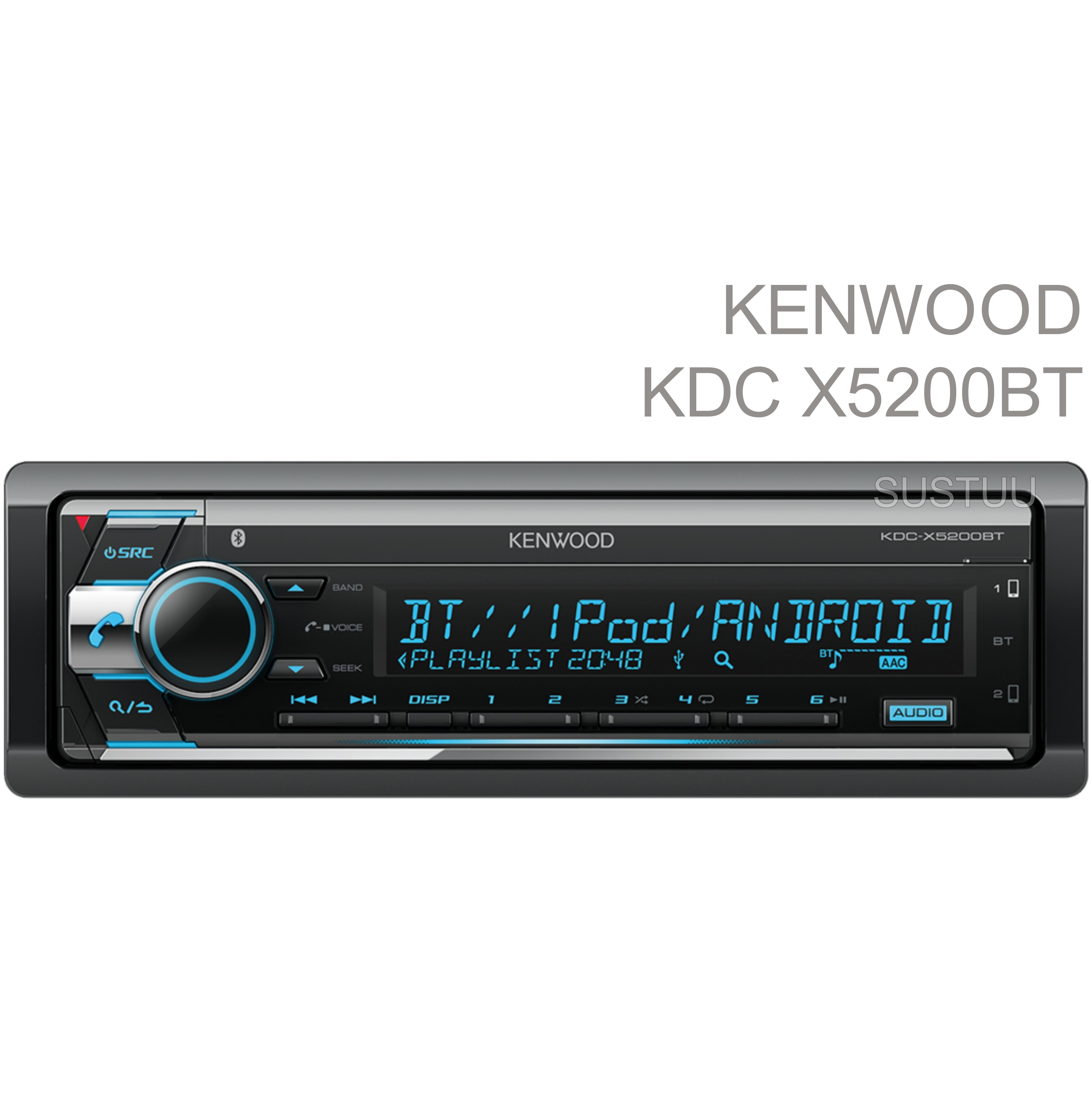 Kenwood Car Stereo|Radio|FLAC|USB|AUX|Bluetooth|iPod-iPhone-Android|Illumination