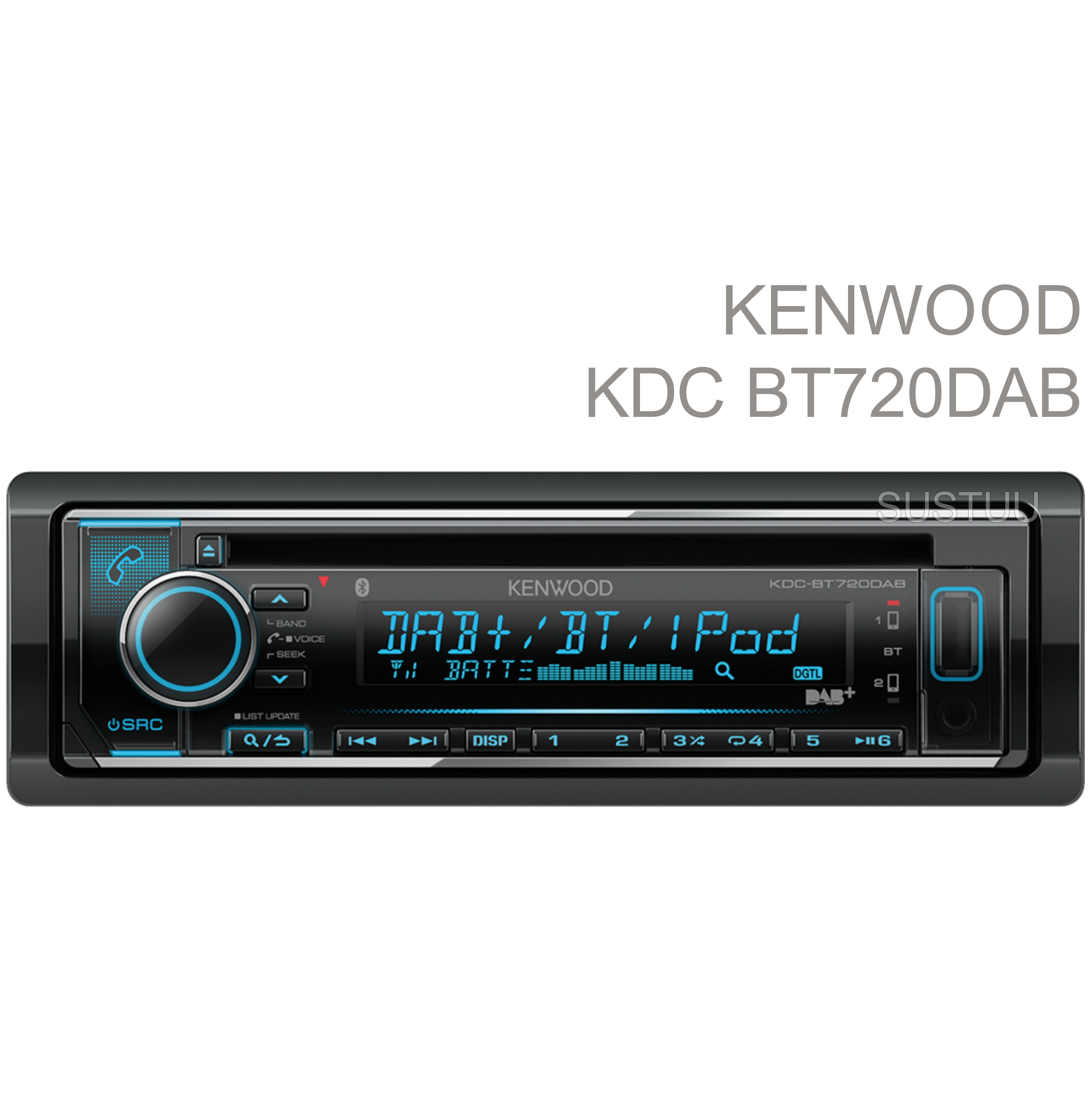 Kenwood Car Stereo|DAB+|FLAC|USB|Aux|Bluetooth|iPod-iPhone-Android|Illumination