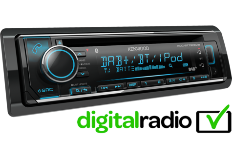 Kenwood Car Stereo|DAB+|FLAC|USB|Aux|Bluetooth|iPod-iPhone-Android|Illumination Thumbnail 2