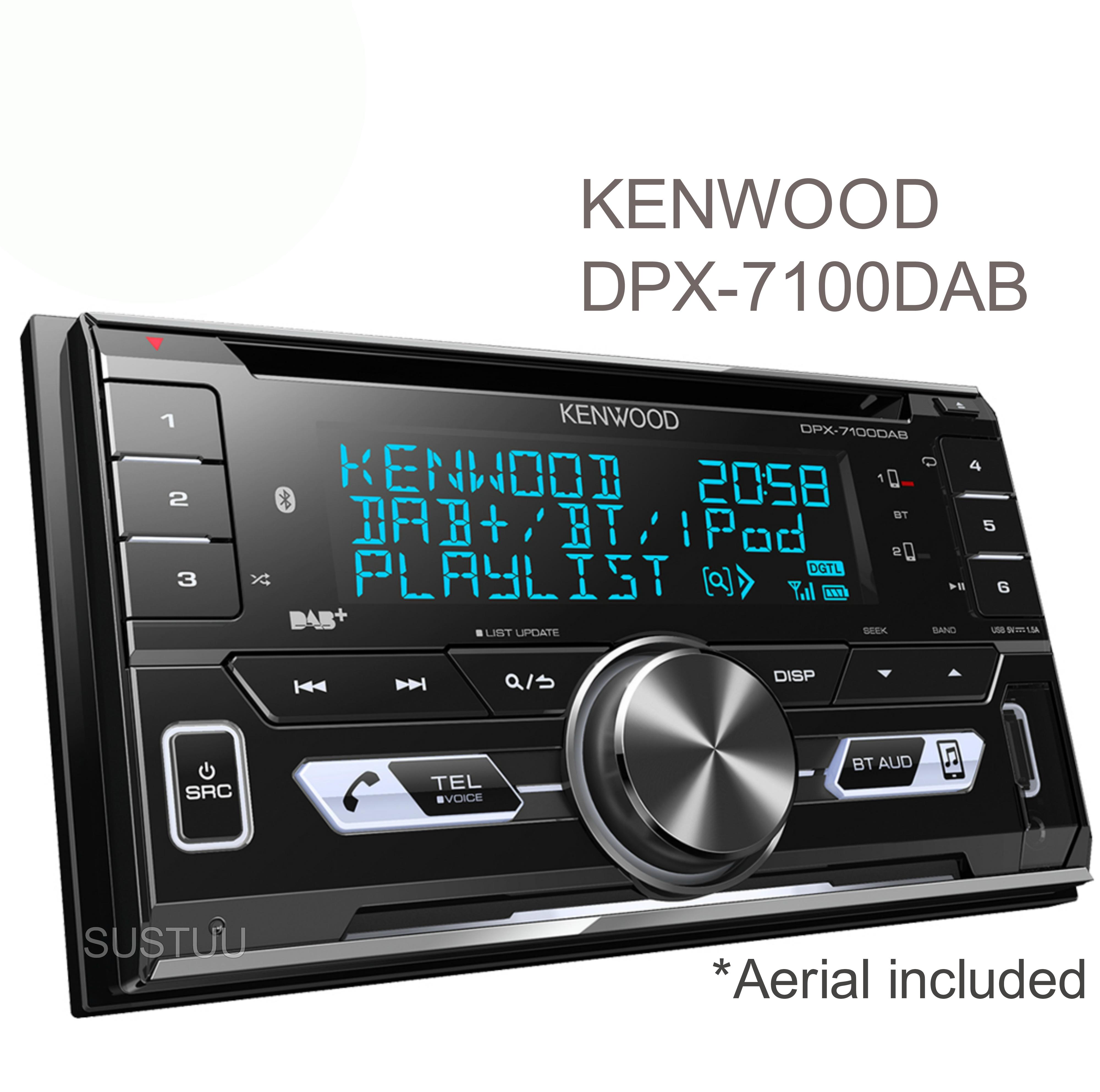 Kenwood Car Stereo|2DIN DAB+ Radio|MP3|USB|Bluetooth|iPod-iPhone-Android|Illumin