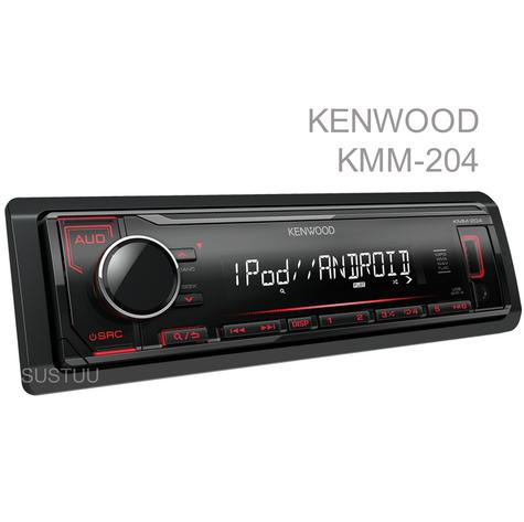 Kenwood Car Media Stereo|Mechless Radio|USB|AUX|iPod-iPhone-Android|Red Illumination Thumbnail 1